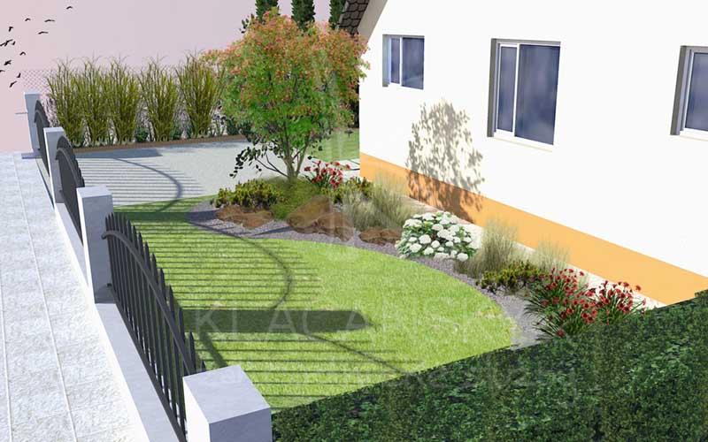 model záhrady