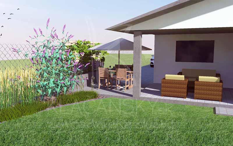 grafický návrh záhrady