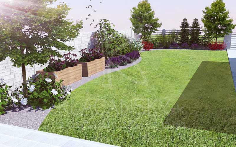 vizualizácia záhrady pre klienta