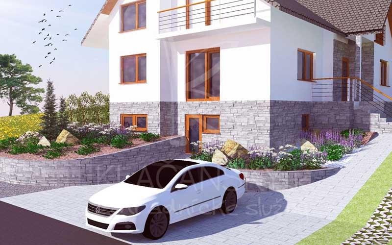 vizualizácia záhrady rodinného domu