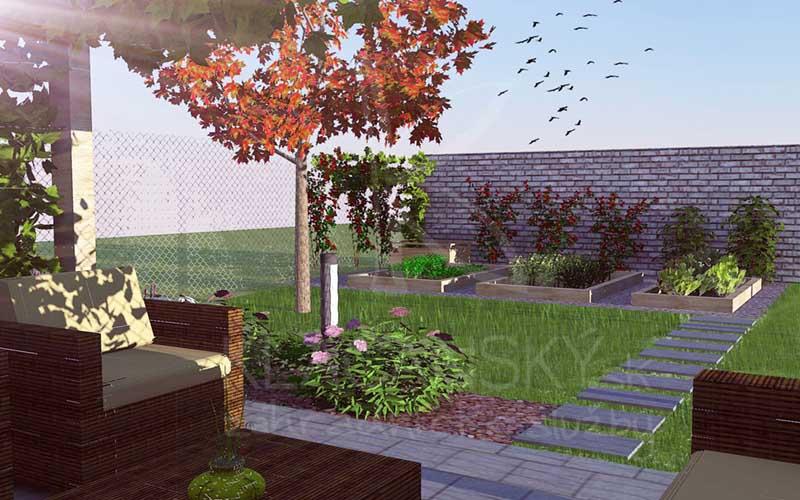 návrhy záhrady od Klačenského
