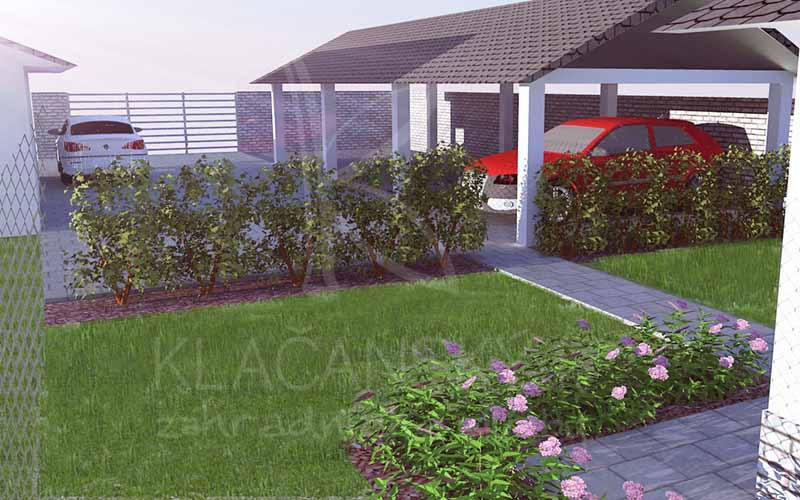 návrh okrasnej záhrady