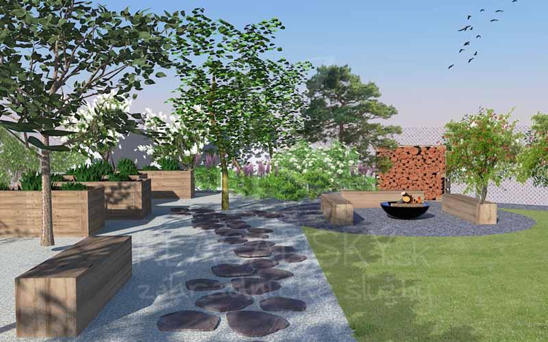 projektovanie záhrady